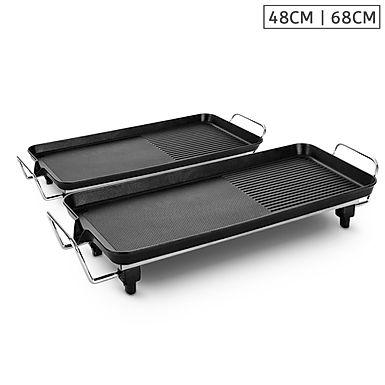 SOGA 48cm 68cm Electric BBQ Grill Teppanyaki Tough Non-Stick Surface Hot Plate