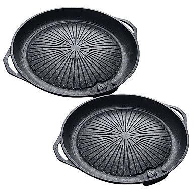 SOGA 2x Portable Korea BBQ Butane Gas Stove Stone Grill Pot Non Stick Coated