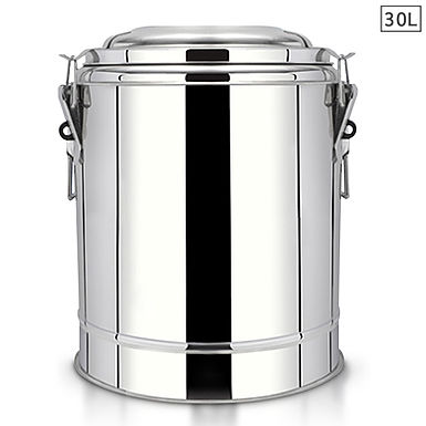 SOGA 30L Stainless Steel Insulated Stock Pot Dispenser Hot & Cold Beverage