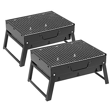 SOGA 2X Portable Mini Folding Thick Box-type Charcoal Grill for Outdoor BBQ Camp