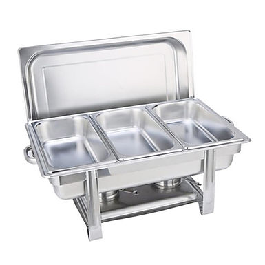 SOGA 3L Triple Tray Stainless Steel Chafing Catering Dish Food Warmer