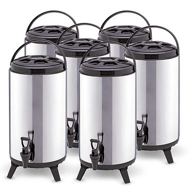 SOGA 6 x 12L Portable Insulated Cold/Heat Coffee Tea Beer Barrel Brew Pot With D
