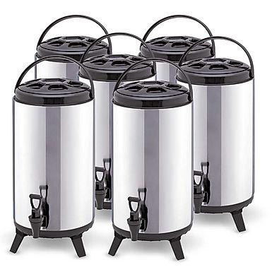 SOGA 6 x 8L Portable Insulated Cold/Heat Coffee Tea Beer Barrel Brew Pot With Di