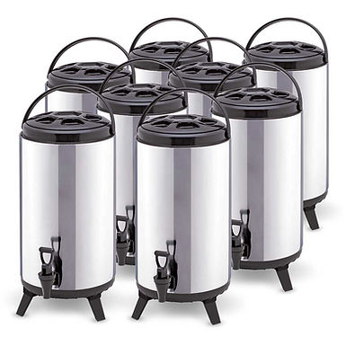 SOGA 8 x 12L Portable Insulated Cold/Heat Coffee Tea Beer Barrel Brew Pot With D