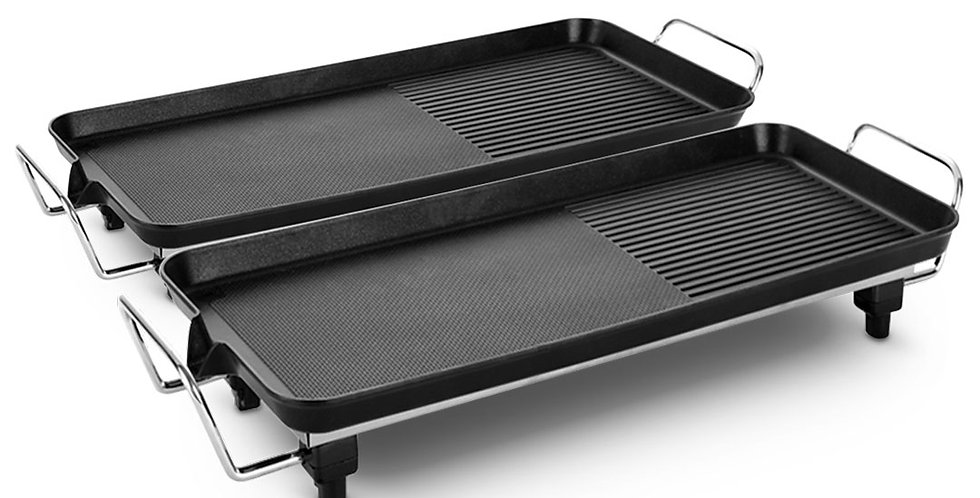 SOGA 2X 68cm Electric BBQ Grill Teppanyaki Plate Non-Stick Surface Hot Plate