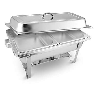 SOGA 4.5L Dual Tray Stainless Steel Chafing Food Warmer Catering Dish