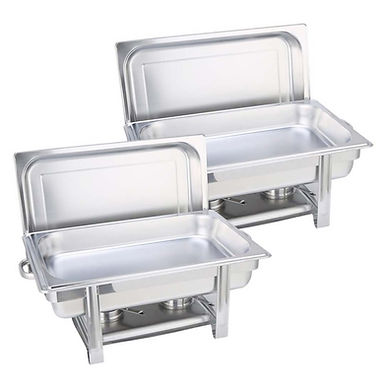 SOGA 2X 9L Single Tray Stainless Steel Chafing Catering Dish Food Warmer