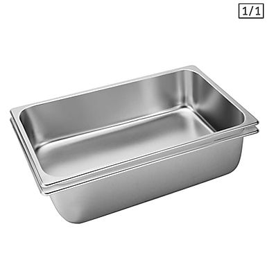 SOGA 2X Gastronorm GN Pan Full Size 1/1 GN Pan 15cm Deep Stainless Steel Tray