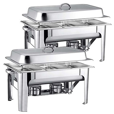 SOGA 2X 9L Stainless Steel 3 Pans Bain-marie Chafing Catering Dish Buffet Food