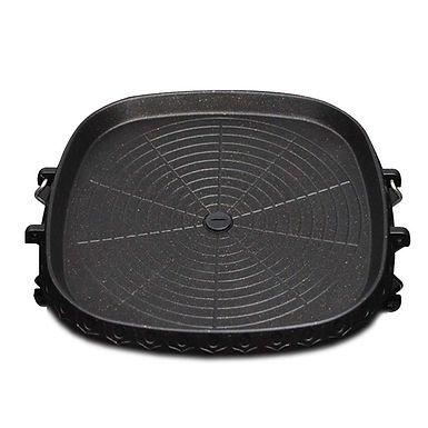 SOGA Portable Korean BBQ Butane Gas Stove Stone Grill Plate Non Stick Coated Squ