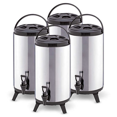 SOGA 4 x 10L Portable Insulated Cold/Heat Coffee Tea Beer Barrel Brew Pot With D