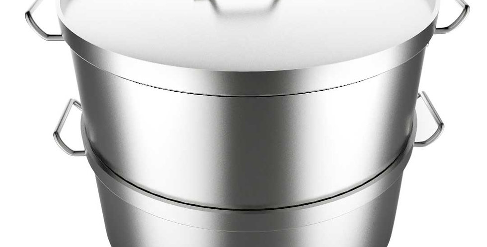 SOGA  Food Steamer 45cm Commercial 304 Top Grade Stainless Steel 2 Tiers