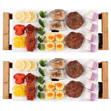 SOGA 2X Electric Ceramic BBQ Grill Non-stick Surface Hot Plate for Indoor & Outd