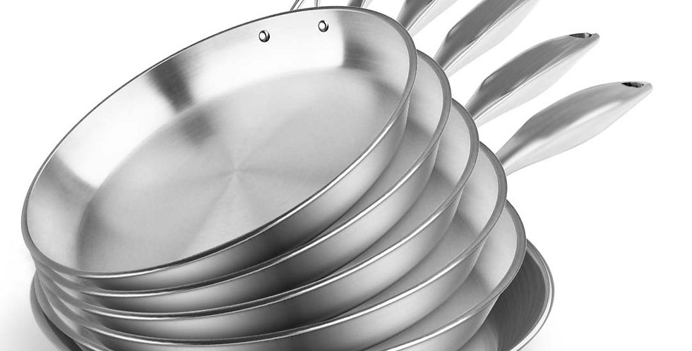 SOGA 6X Stainless Steel Fry Pan Frying Pan Top Grade Induction Skillet C