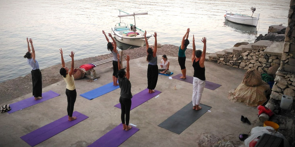 Yoga holidays by the sea