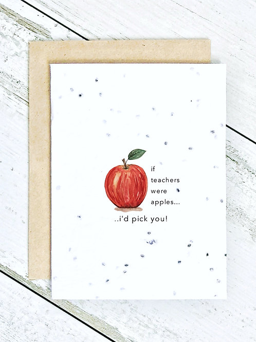 If Teachers Were Apples..
