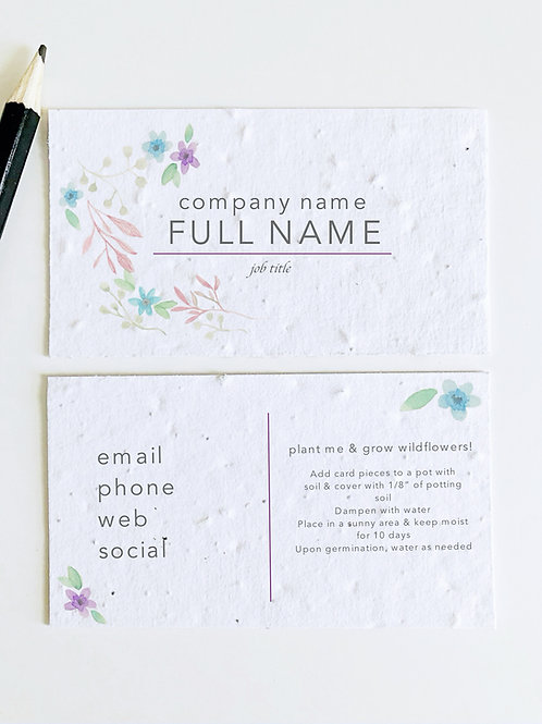 Floral Business Cards (0.90-1.00 ea.)