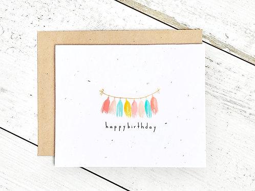 Happy Birthday Tassels