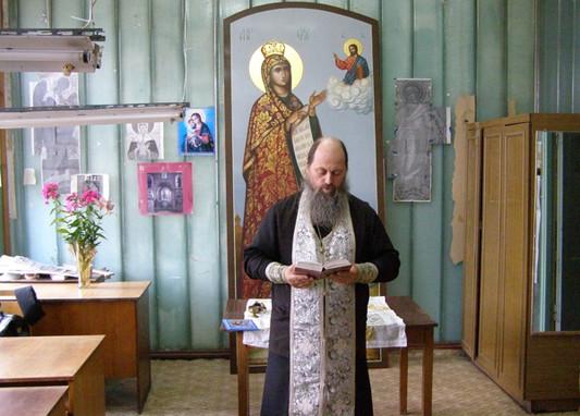 Молебен Пресвятой Богородице в Центре Традиционной Мстёрской миниатюры