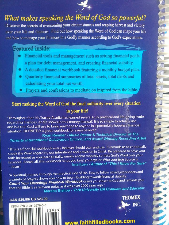 Count Your Blessings Financial Workbook | faithfilledbooks