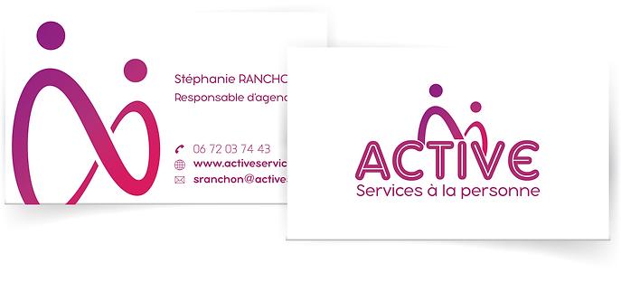 création carte de visite sur-mesure identité visuelle par SAVE CREATIVE Graphiste Freelance Valence