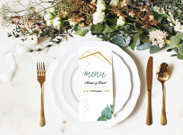 Déco de table mariage rustique chic