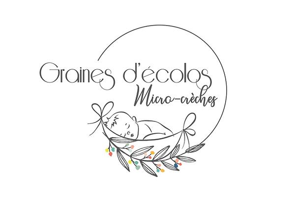Création logo Graines d'écolos - Micro crèches par SAVE CREATIVE Graphiste Freelance Lyon