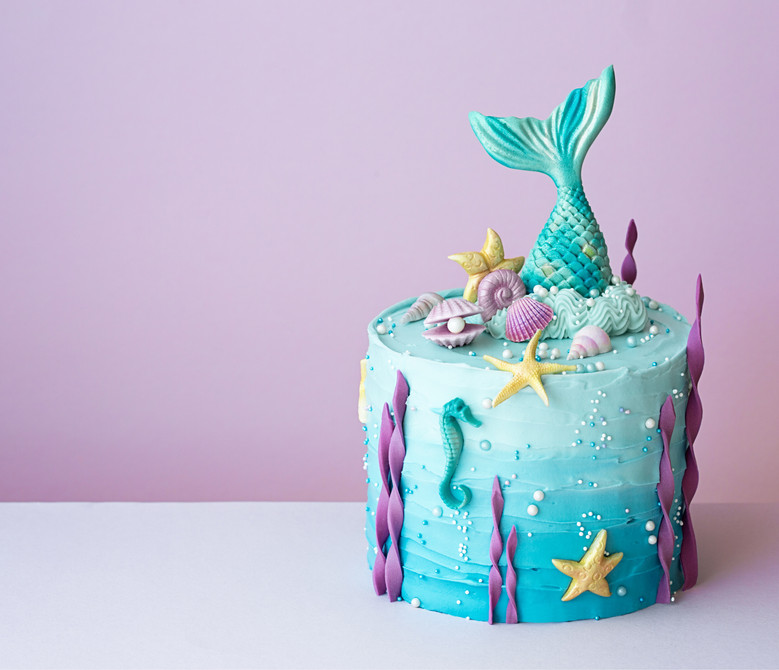 gateau anniversaire sirene
