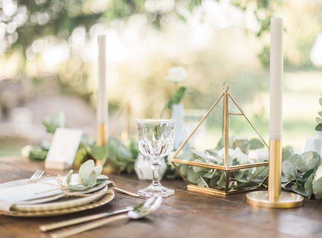 Table des mariés ambiance rustique chic