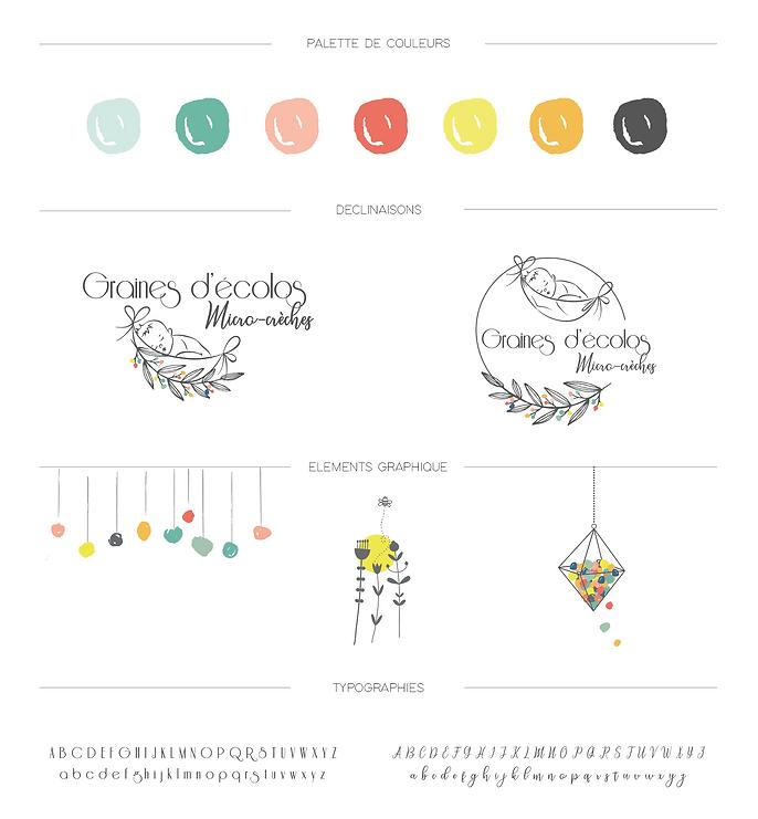 Création identité visuelle crèche par SAVE CREATIVE Graphiste Freelance Lyon