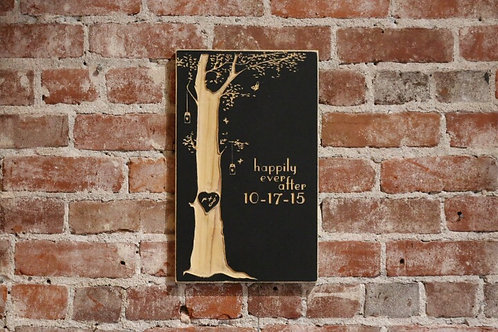 Tree wedding sign