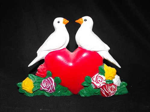 Heart Center Piece w/Doves