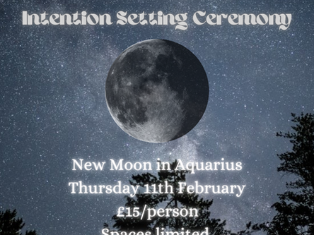 New Moon Intention Setting Ceremony
