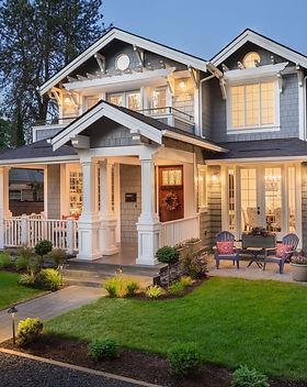 Beautiful New Home Exterior at Night_ Ho