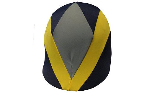 JAVELOT bleu marie, jaune et gris