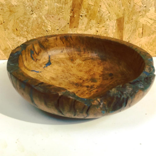 Large Burr Oak and Resin Bowl