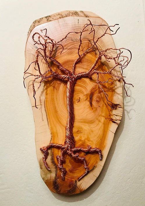 Wall mounted Copper Wire Tree