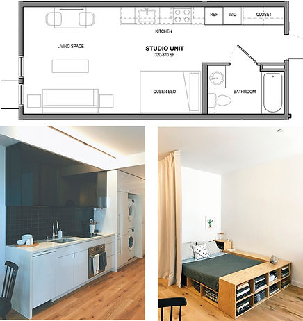 Example of a Micro Unit in Housing - A Micro Apartment