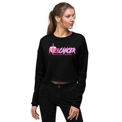 """F"" CANCER Crop Sweatshirt"