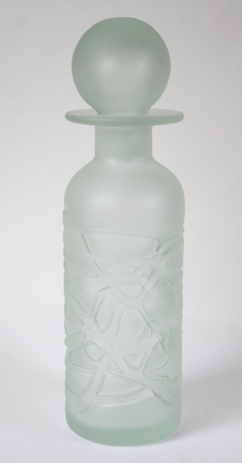 Frosted Art Glass Vase Mdina