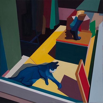 Yeni Hayat dizisi tabloları - Vitrin ve kedi