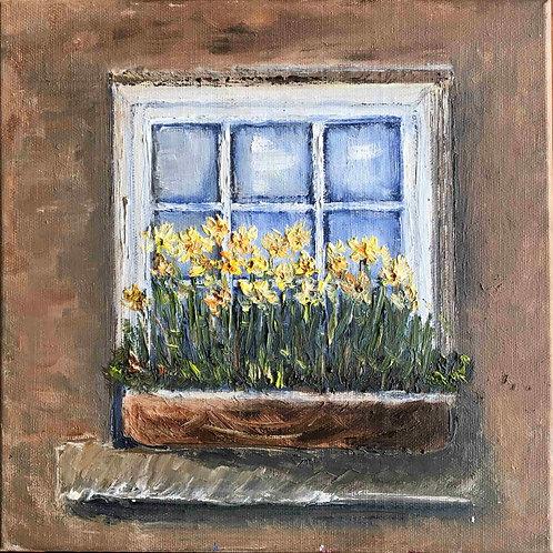 Pencerede Çiçekler