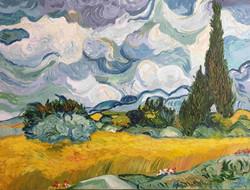 Bugday Tarlası ve Serviler - Van Gogh Tablosu
