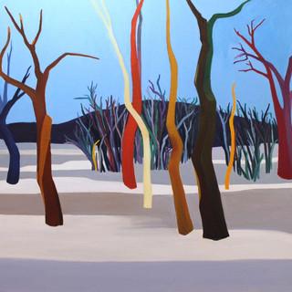 Karda Işıldayan Ağaçlar