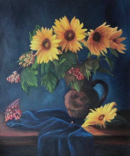 Yeni Hayat dizisi tabloları - Ayçiçekleri