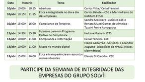 Começa hoje a primeira Semana de Integridade das empresas do Grupo Solví
