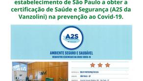 Conquistamos o selo A2S - Ambiente Seguro e Saudável - da Vanzolini com a sua colaboração!