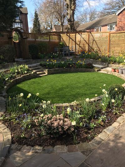 Sloping back garden