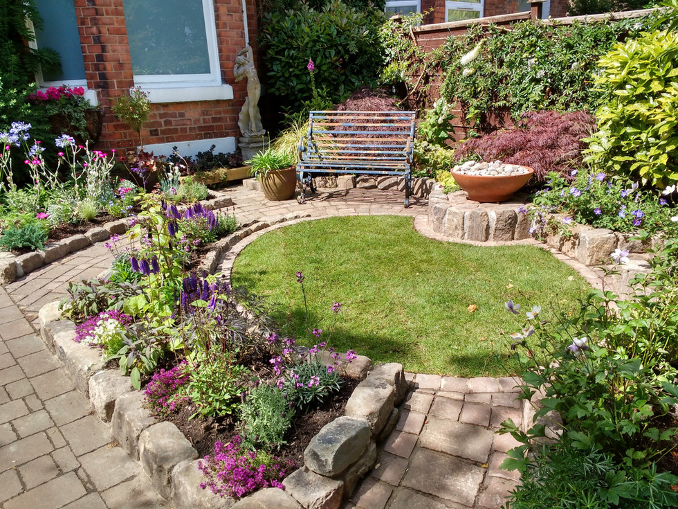 Sunny front town garden