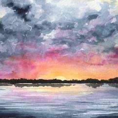 Sunset, Stumpy Lake